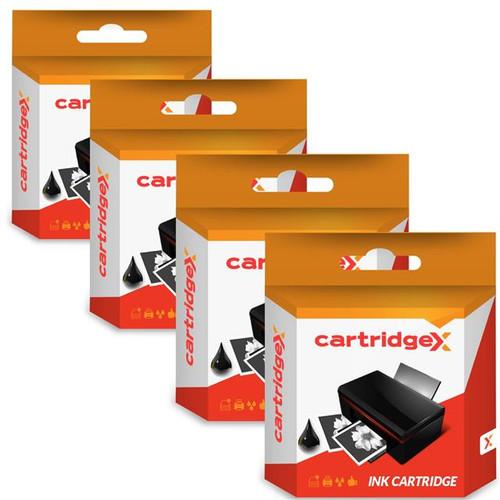 Compatible 4 X Black Ink Cartridges For Hp 21xl 21 C9351ce
