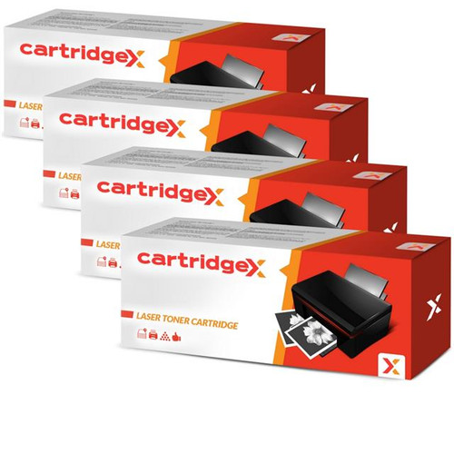 Compatible 4 X High Capacity Black Toner Cartridge For Oki 44992402