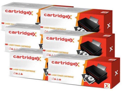 Compatible 6 X High Capacity Black Toner Cartridge For Oki 44992402