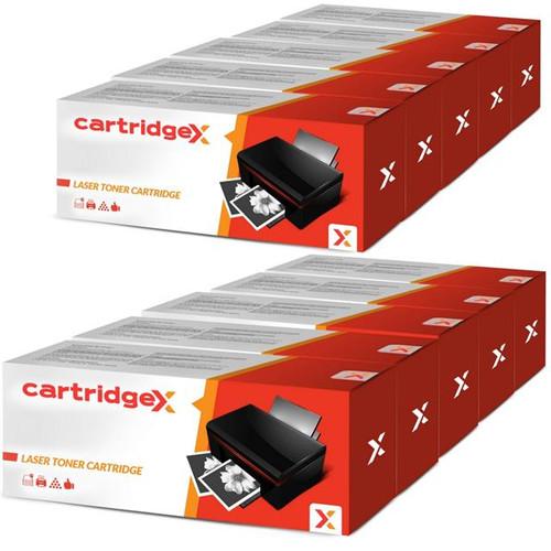 Compatible 10 Black Laser Toner Cartridges For Hp Q7553x 53x P2015dn P2015x P2014 P2014n