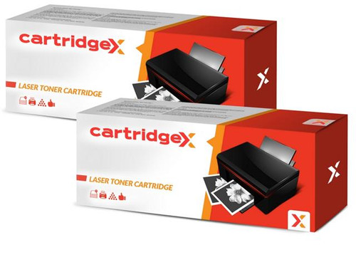 Compatible 2 X High Capacity Hp 55x Ce255x Black Toner Cartridge