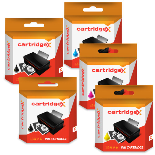 Compatible Set Of 14 Ink Cartridges For Pgi-520 & Cli-521 Canon Pixma Mp620 Mp630 Mp640