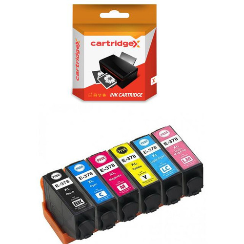 Compatible 6 High Capacity Epson 378xl Ink Cartridge Multipack