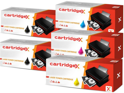 Compatible 5 Toner Cartridge Set Compatible With Epson AcuLaser C4100