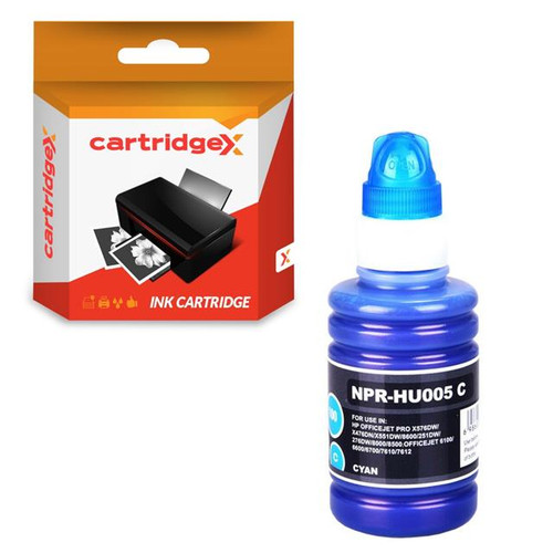 Compatible Cyan 100ml NON-OEM Pigment Ink For HP Officejet 7510 Wide Format e-All-in-One