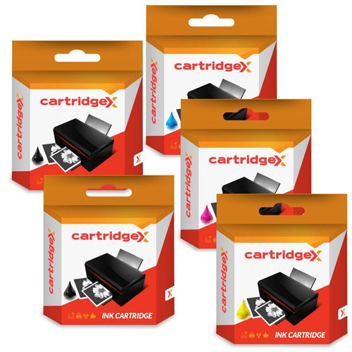 Compatible 5 Ink Cartridge Set Compatible With Epson WorkForce WF-2810DWF WF-2830DWF