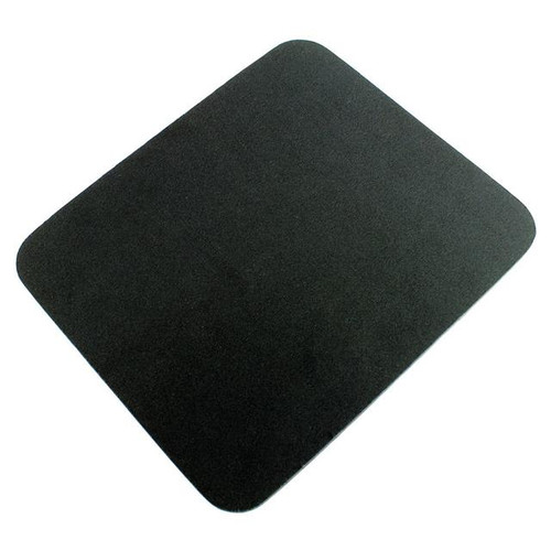Q-Connect Economy Mouse Mat - Black 29702 / KF04517 Computer Laptop Mouse Pad