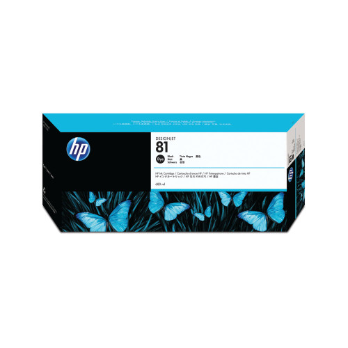 Genuine HP 81 Black Inkjet Cartridge  Dye Ink C4930A