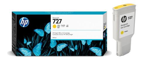 Genuine Extra High Capacity Yellow HP 727 Ink Cartridge F9J78A 300 ml