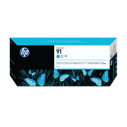 Genuine Cyan HP 91 Ink Cartridge C9467A