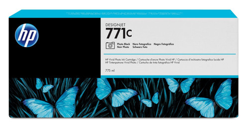 Genuine Photo Black HP 771C Ink Cartridge B6Y13A