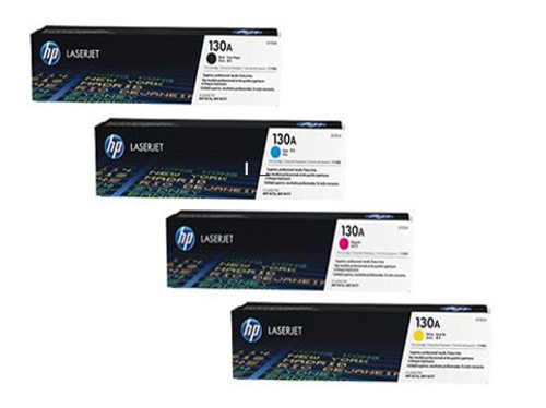 4 Colour Hp 130a Original Toner Cartridge Multipack (Cf350a/cf351a/cf352a/cf353a)