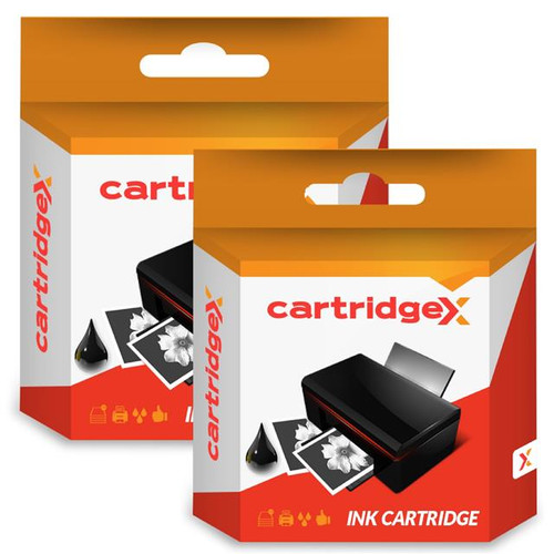 Compatible 2 X Black Ink Cartridge For Hp Designjet T120 Eprinter Cz129a