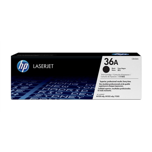 Hp 36a Original Black Toner Cartridge (Cb436a)