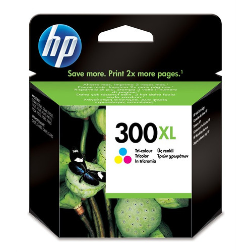 High Capacity Hp 300xl Original Tri-colour Ink Cartridge (Cc644ee)