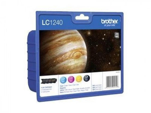 4 Colour Brother Lc1240 Original Multipack Ink Cartridges Lc1240bk/m/c/y