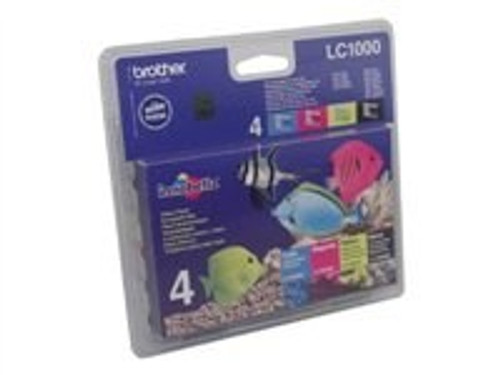 4 Colour Brother Lc1000 Original Multipack Ink Cartridges Lc1000bk/m/c/y