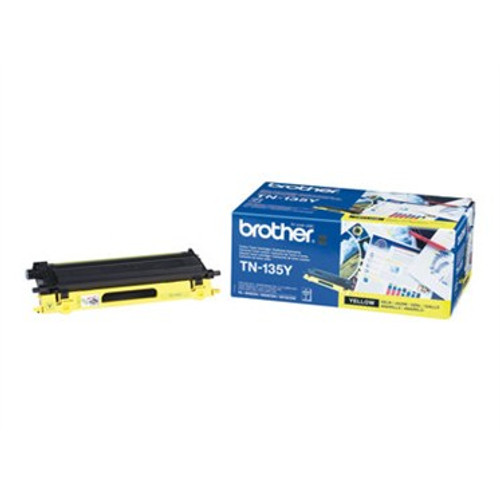 Brother Tn135y Original Yellow Toner Cartridge (Tn135y Laser Printer Cartridge)