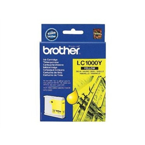 Brother Lc1000y Original Yellow Ink Cartridge  (Lc1000y Inkjet Printer Cartridge)