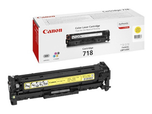 Canon 718 Original Yellow Toner Cartridge (2659b002aa)