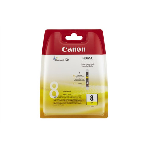 Canon Cli-8y Original Yellow Ink Cartridge (0623b001)
