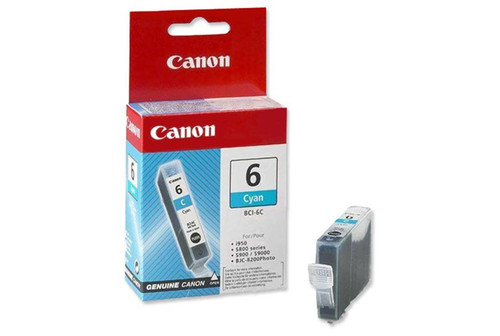 Canon Bci-6c Original Cyan Ink Cartridge (4706a002)