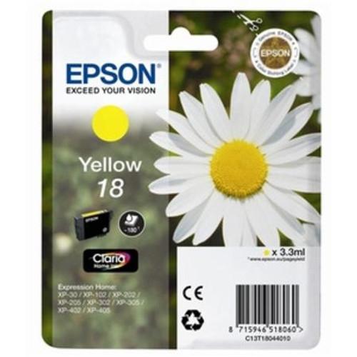 High Capacity Epson 18xl Original Yellow Ink Cartridge (C13t18144010)