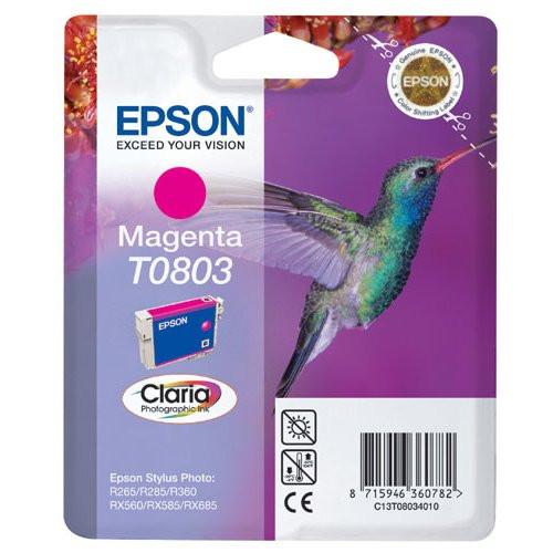 Compatible Epson T0803 Magenta Ink Cartridge (C13t08034010)
