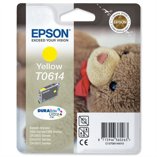 Epson T0614 Original Yellow Ink Cartridge  (C13t06144010)