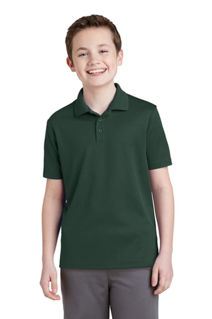 School Uniform Dark Green Dri-Fit Polo.
