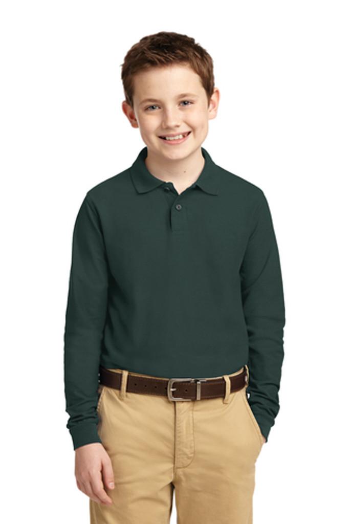 Long Sleeve school uniform polo