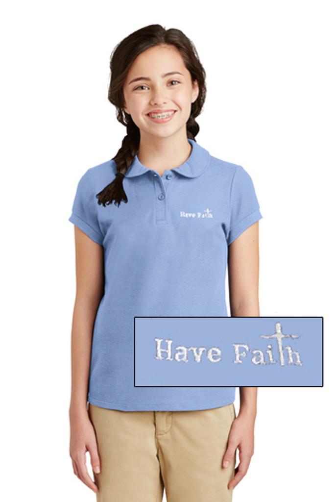 """""""Have Faith"""" Port Authority Girls Silk Touch Polo - YG503"""