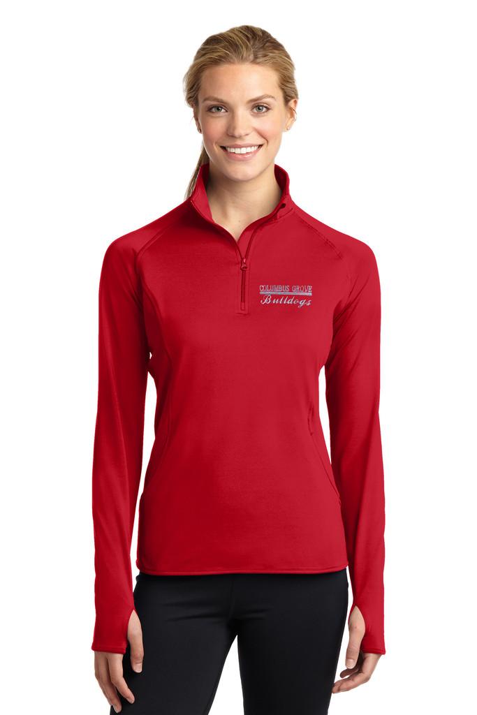 Columbus Grove Bulldogs Ladies 1/2 zip pullover