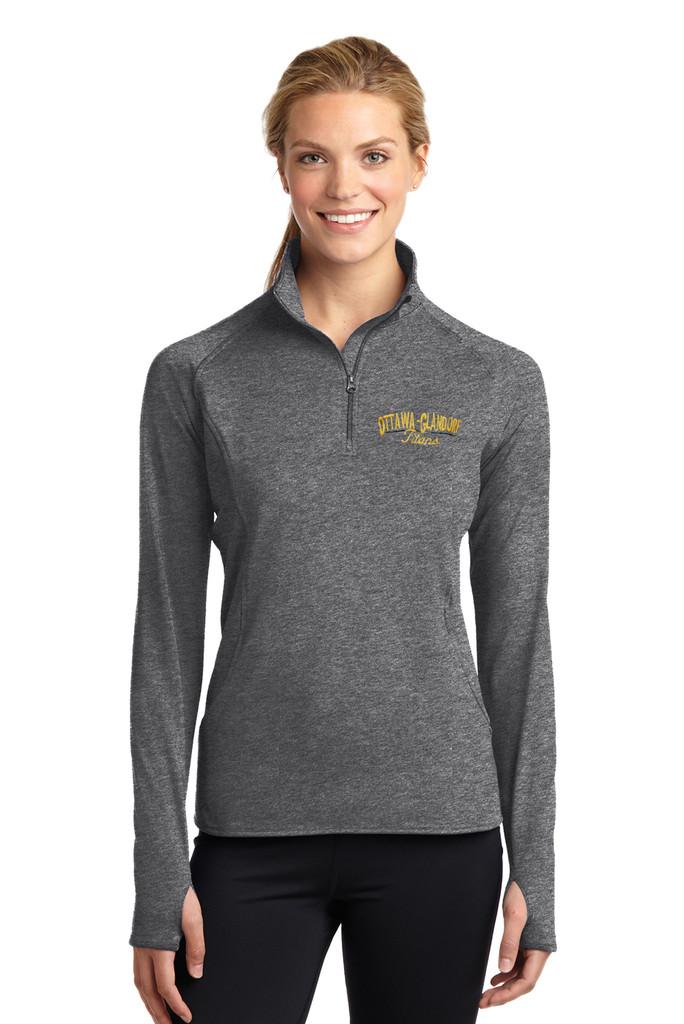 O-G LST850 Sport-Tek® Ladies Sport-Wick® Stretch 1/2-Zip Pullover