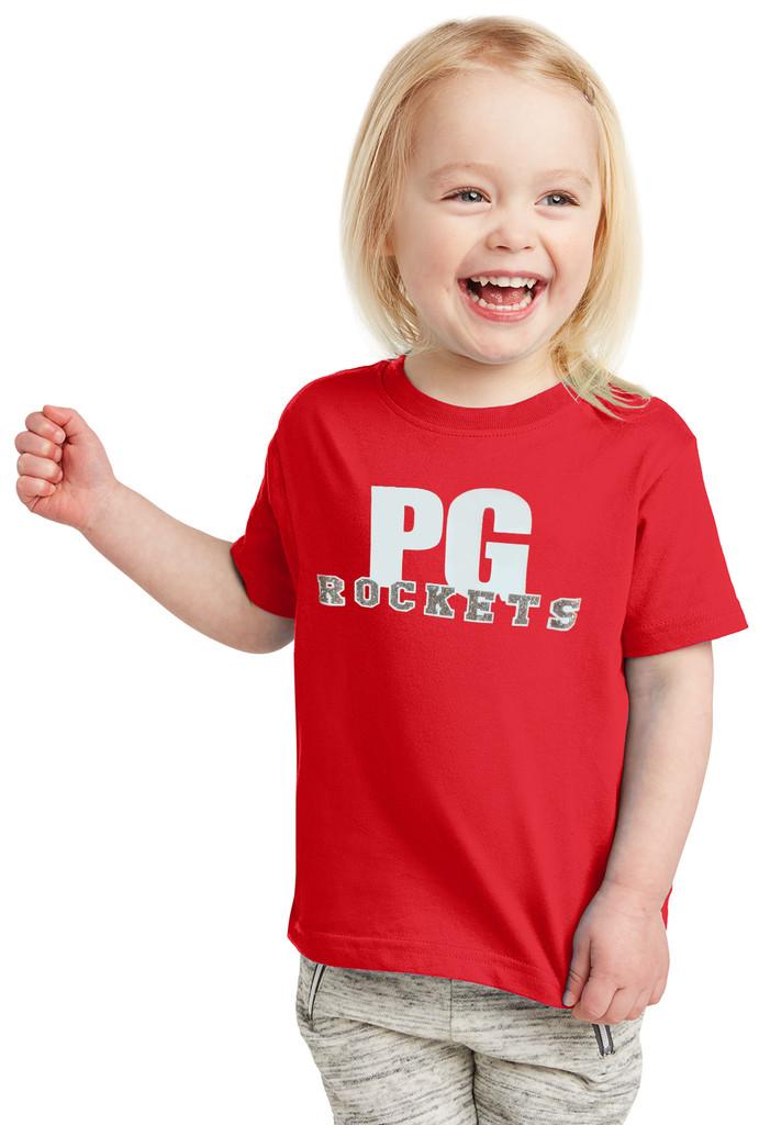 PG Glitter - RS3321 Rabbit Skins™ Toddler Fine Jersey Tee