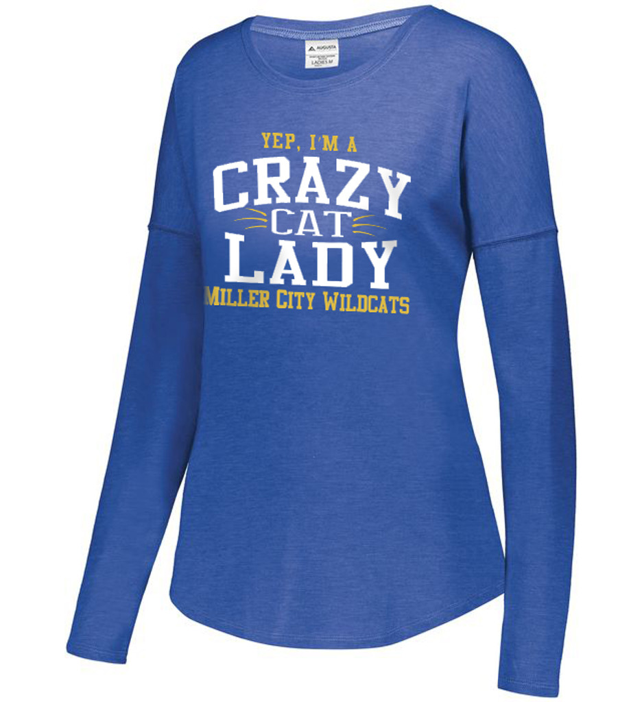 3077 - Miller City LADIES LUX TRI-BLEND LONG SLEEVE TEE