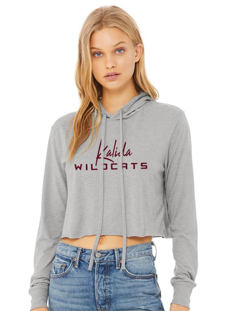 8512 - Kalida Bella + Canvas Ladies' Cropped Long Sleeve Hoodie T-Shirt