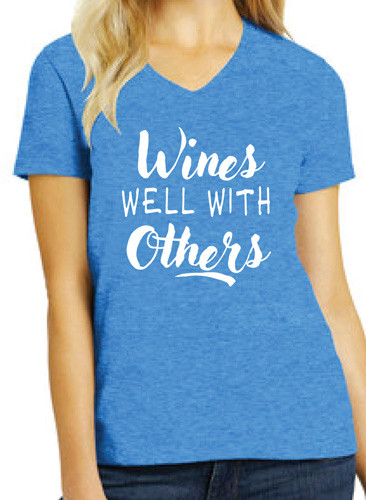 Wines Well With Others  V-neck