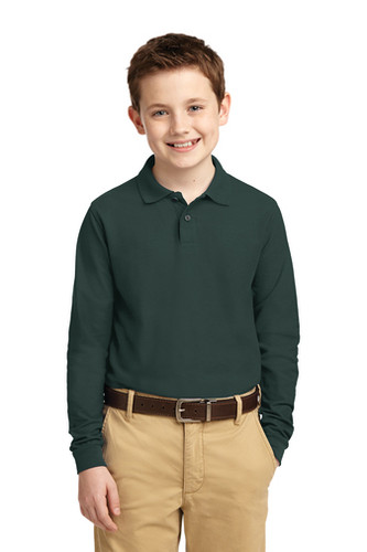 Long Sleeve school uniform polo