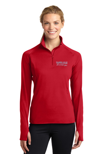 Columbus Grove Bulldogs Ladies 1/2 zip pullover