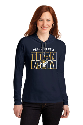 Titan Mom 887L Anvil® Ladies 100% Combed Ring Spun Cotton Long Sleeve Hooded T-Shirt