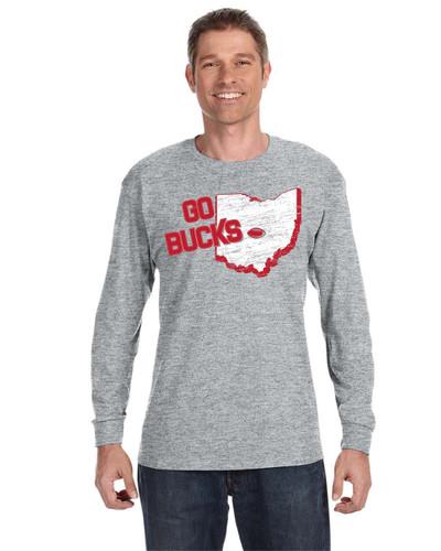 Go Bucks - 29LS - JERZEES® 50/50 Long Sleeve T-Shirt