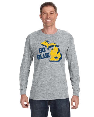Go Blue - 29LS - JERZEES® 50/50 Long Sleeve T-Shirt