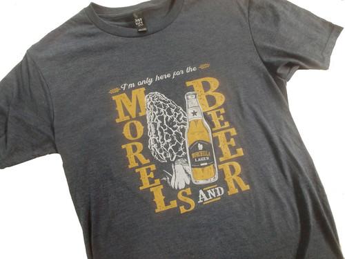 Morel Mushrooms & Beer T-shirt