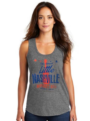 Little Nashville Soft Tri-blend Ladies Tank