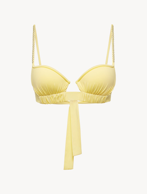 Bikini Top in yellow with ruched cups