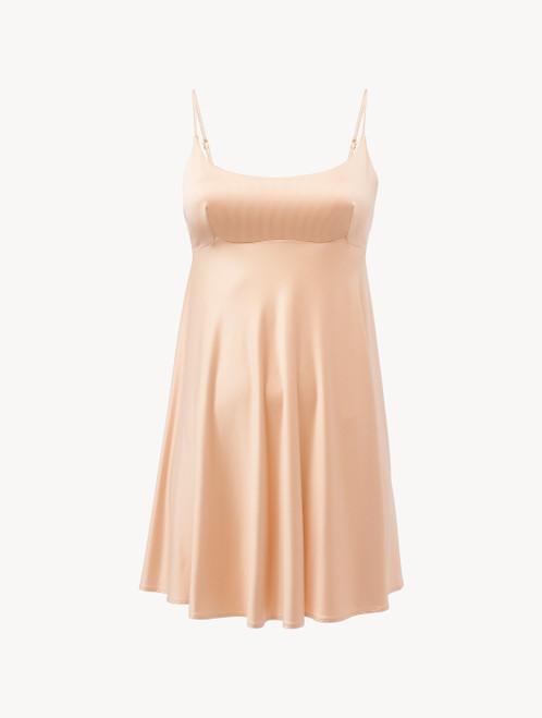 Slip Dress in beige stretch viscose