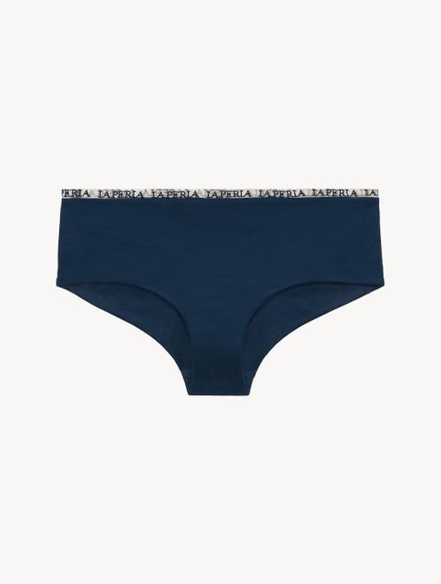 Hipster Briefs in blue modal silk jersey