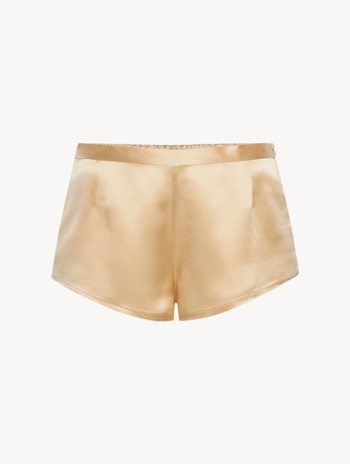 Silk shorts in beige