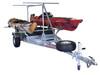 MegaSport 2-4 Kayak Trailer Pkg (Spare Tire, 2nd Tier, 2 Sets Saddle Ups, Storage Basket & Drawer) (MPG550-TU)